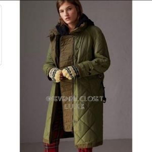 Burberry Melmore Diamond Quilted Puffer Long Coat